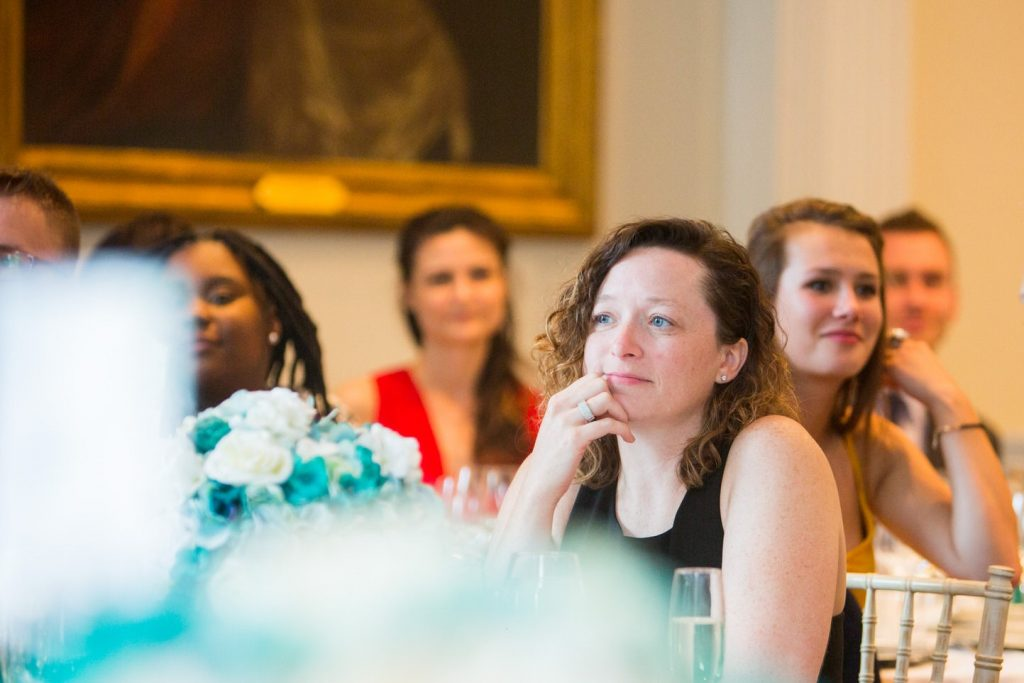 guests hear speech academy of medical sciences venue portland place london oxfordshire wedding photographers