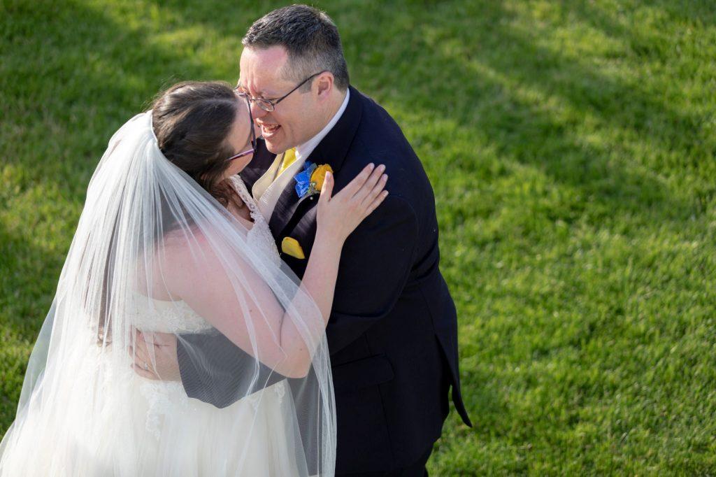 bride groom embrace manor hill house bromsgrove worcestershire oxfordshire wedding photographers