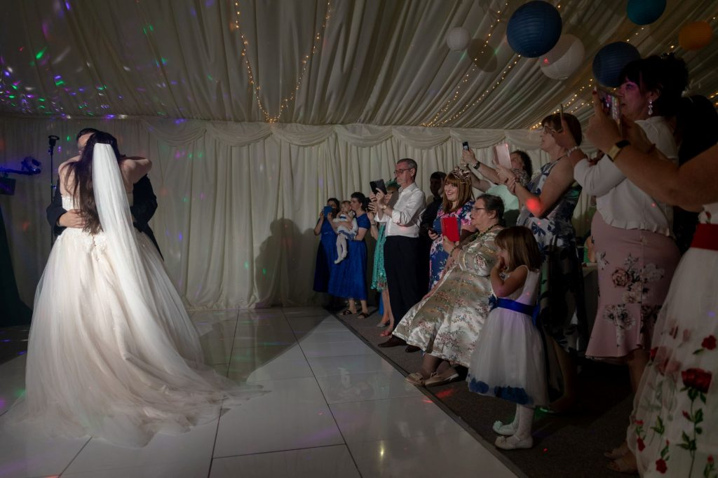 bride groom first dance manor hill house bromsgrove worcestershire oxford wedding photographer