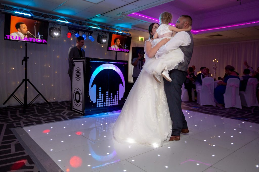 bride groom flowergirl dance village hotel club dudley birmingham oxford wedding photographer