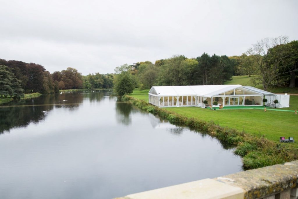 marquee overlooks lake blenheim palace venue woodstock oxford wedding photography