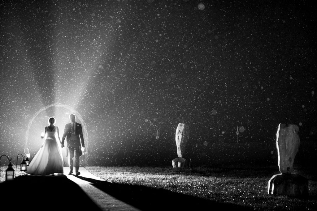 bride grooms nightime stroll blenheim palace grounds woodstock oxfordshire oxford wedding photographer