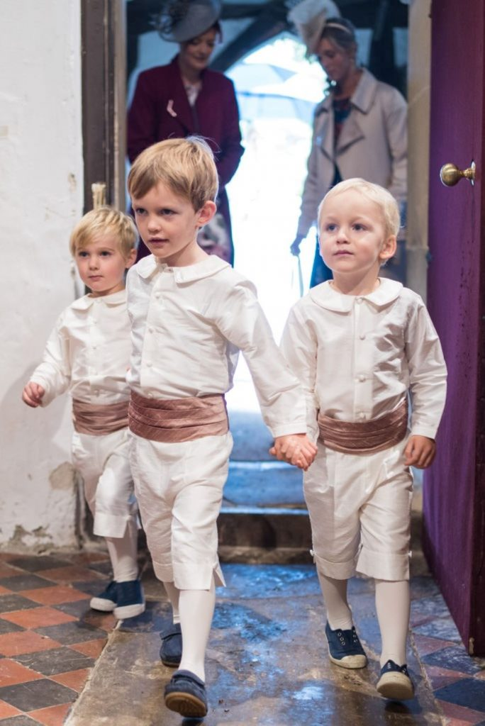 pageboys enter church of st michael ceremony aston tirrold oxfordshire oxford wedding photographer