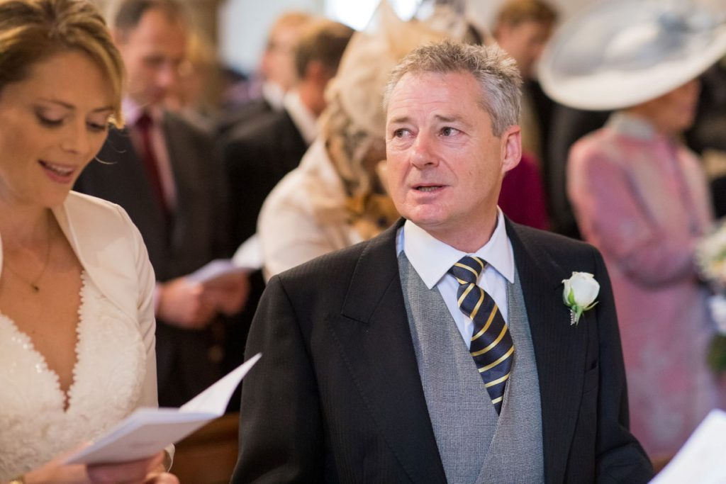 singing bride father of bride church of st michael aston tirrold oxfordshire wedding photographer