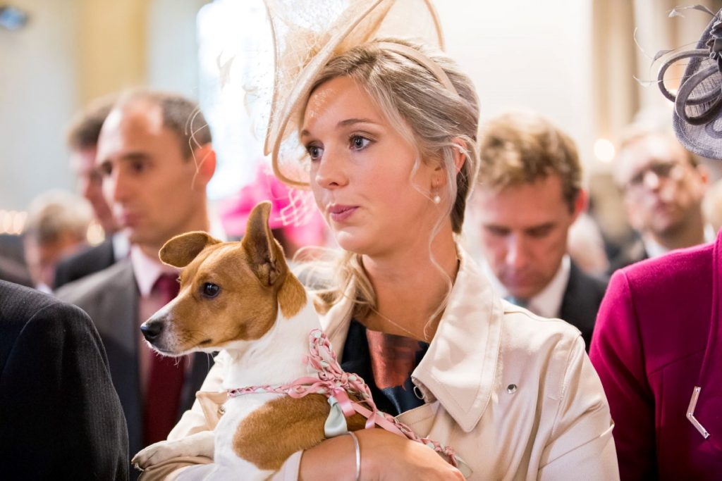 brides relatives dog church of st michael ceremony aston tirrold oxfordshire wedding photographer