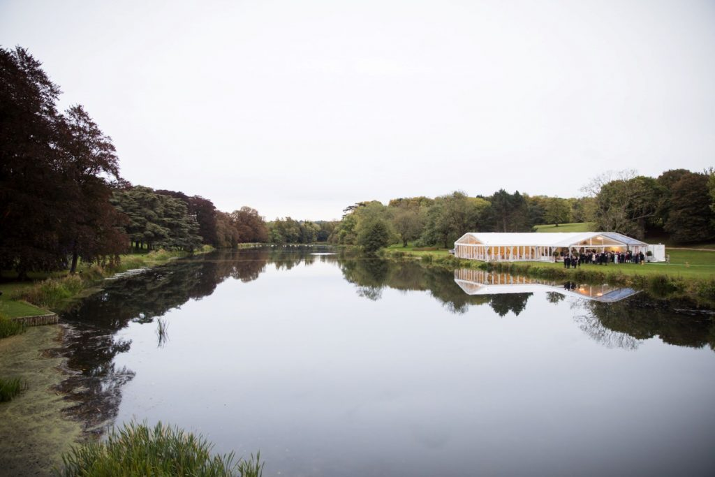 marquee lake reflection blenheim palace venue woodstock oxfordshire oxford wedding photographers