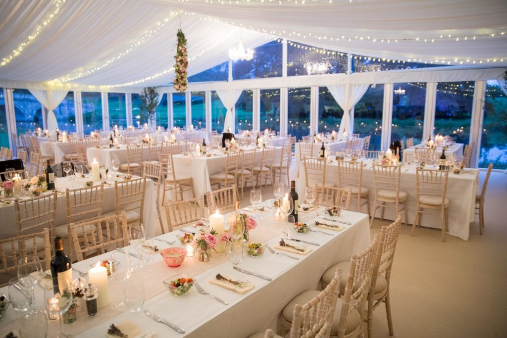 marquee reception tables blenheim palace venue woodstock oxfordshire oxford wedding photography