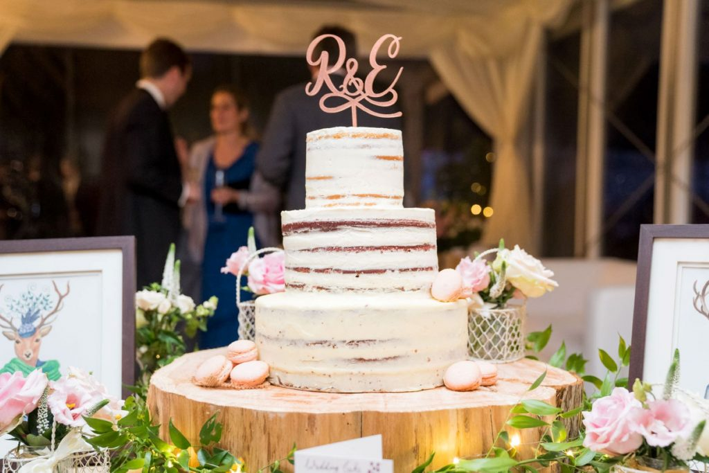 decorated cake arrangement blenheim palace dinner reception woodstock oxfordshire wedding photography