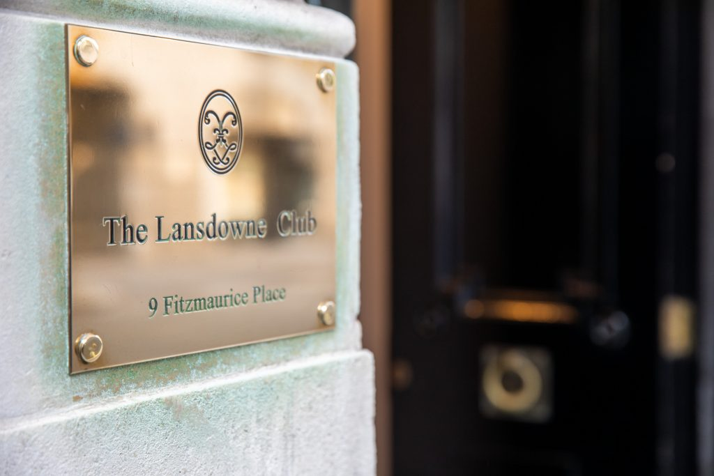 brass wall sign lansdowne club mayfair london oxford wedding photographer