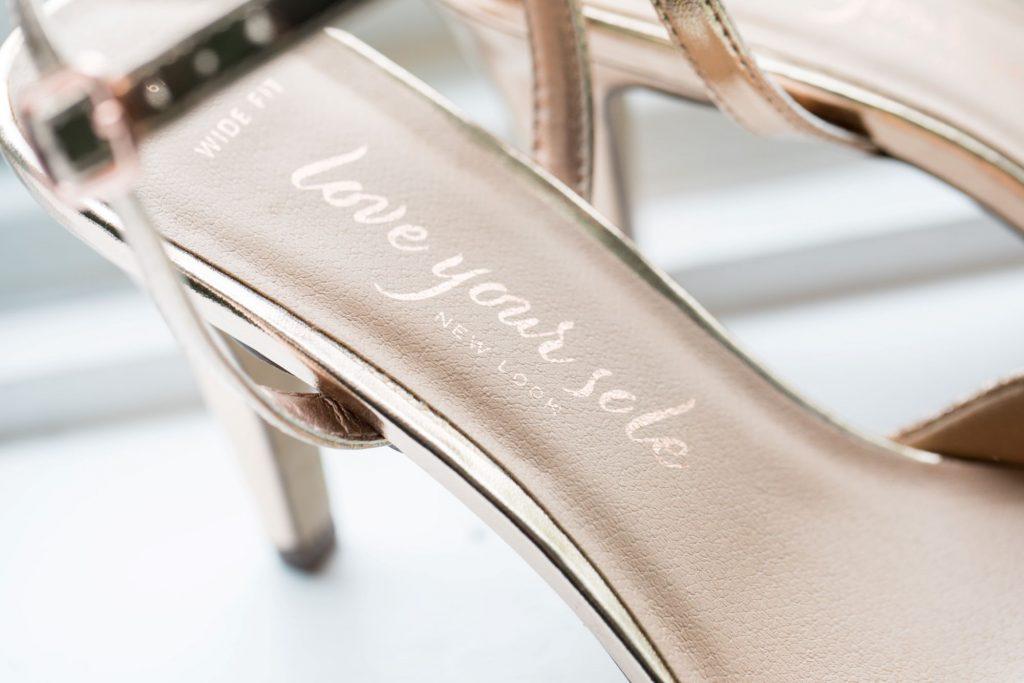 bridal prep brides shoes registry office roysse court abingdon oxford wedding photography