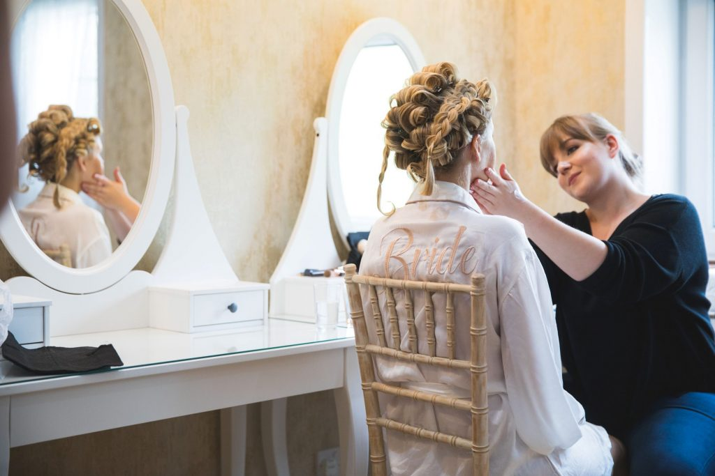 bridal preparation makeup the wroxeter hotel shrewsbury shropshire oxford wedding photography
