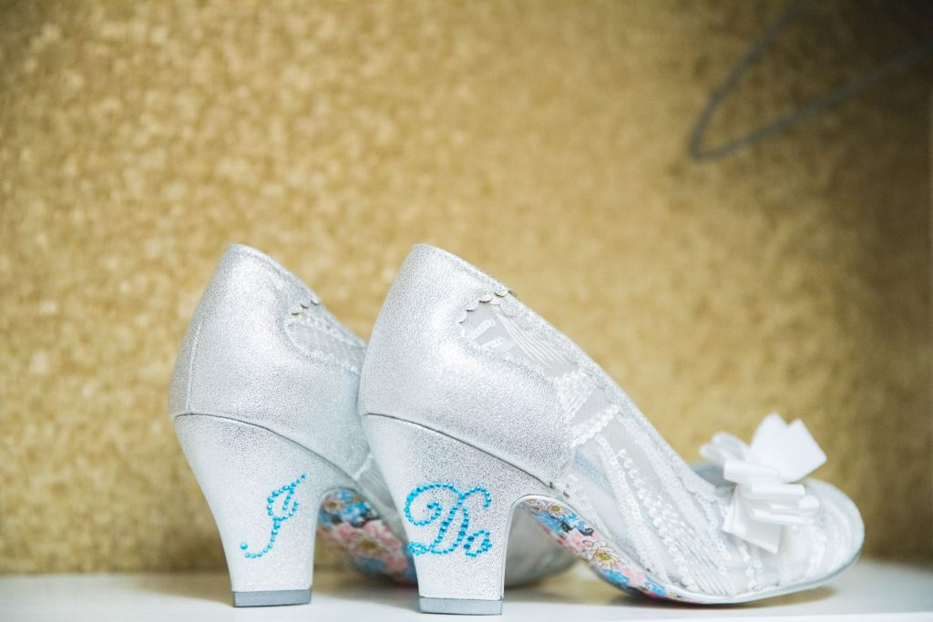 brides shoes wroxeter hotel shrewsbury shropshire oxfordshire wedding photographer