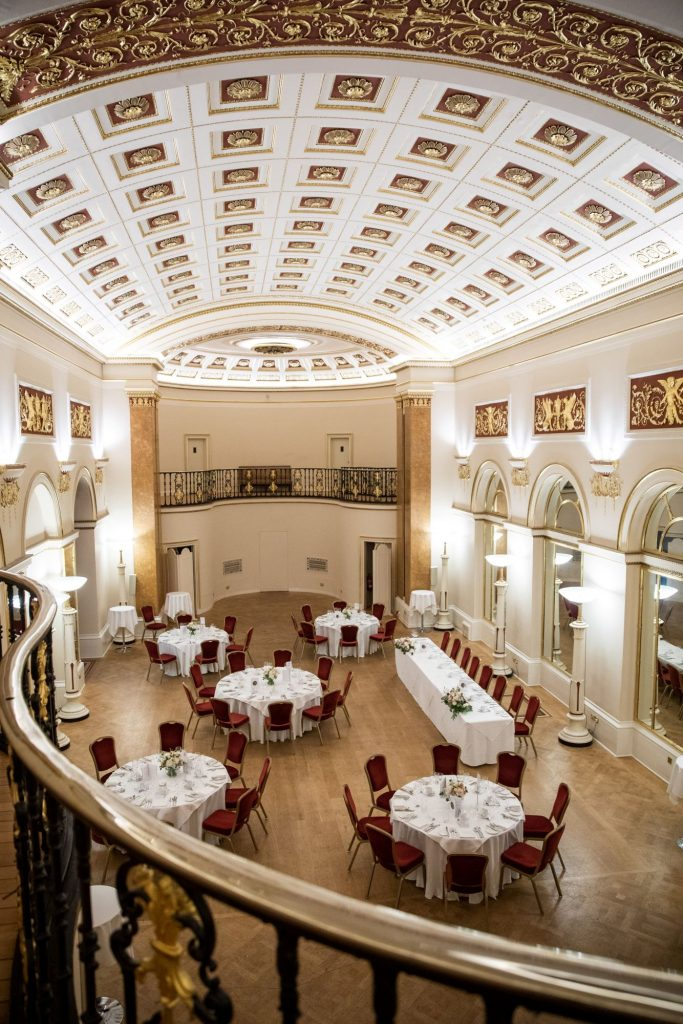 dinner reception room lansdowne club mayfair london oxfordshire wedding photographers