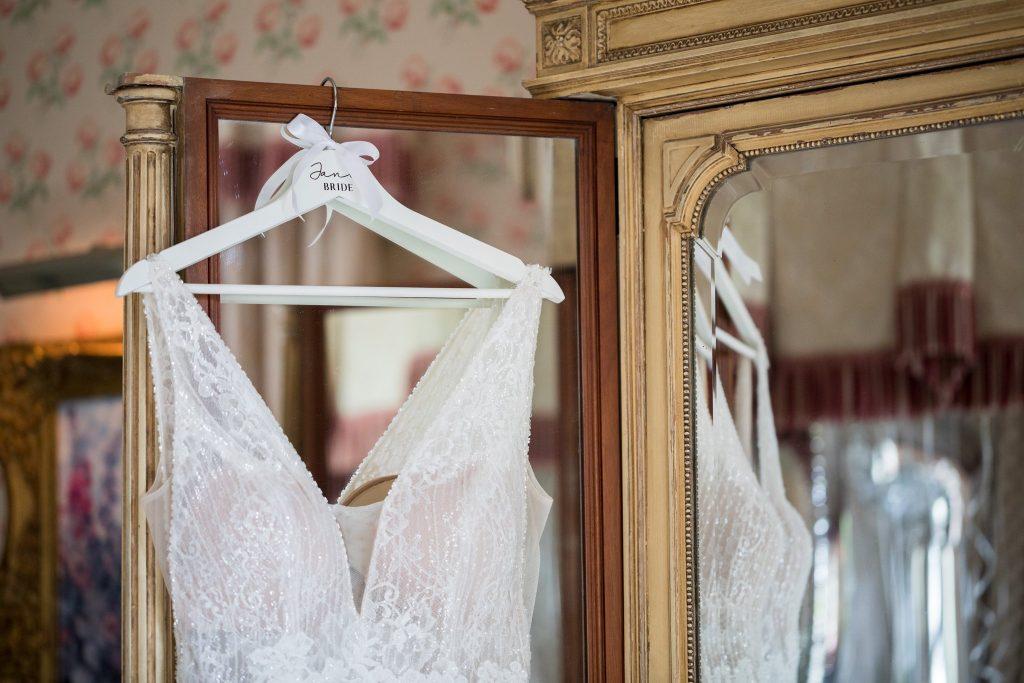 hanging brides dress kilworth house hotel north kilworth leicestershire oxford wedding photographers