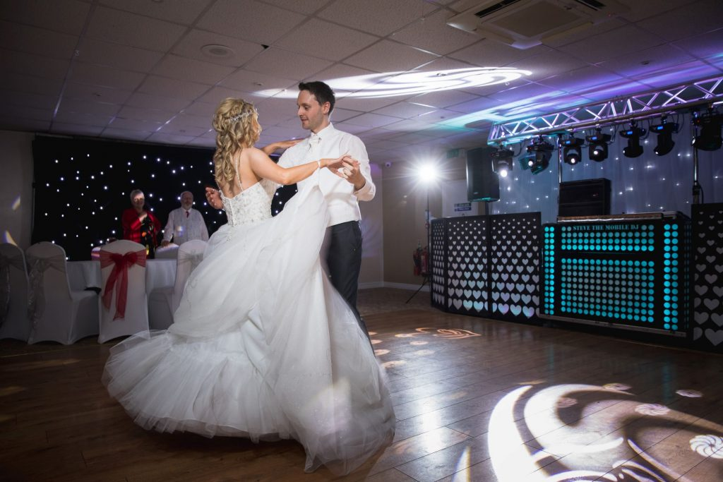 bride groom enjoy first dance party celebrations wroxeter hotel shrewsbury shropshire oxford wedding photography