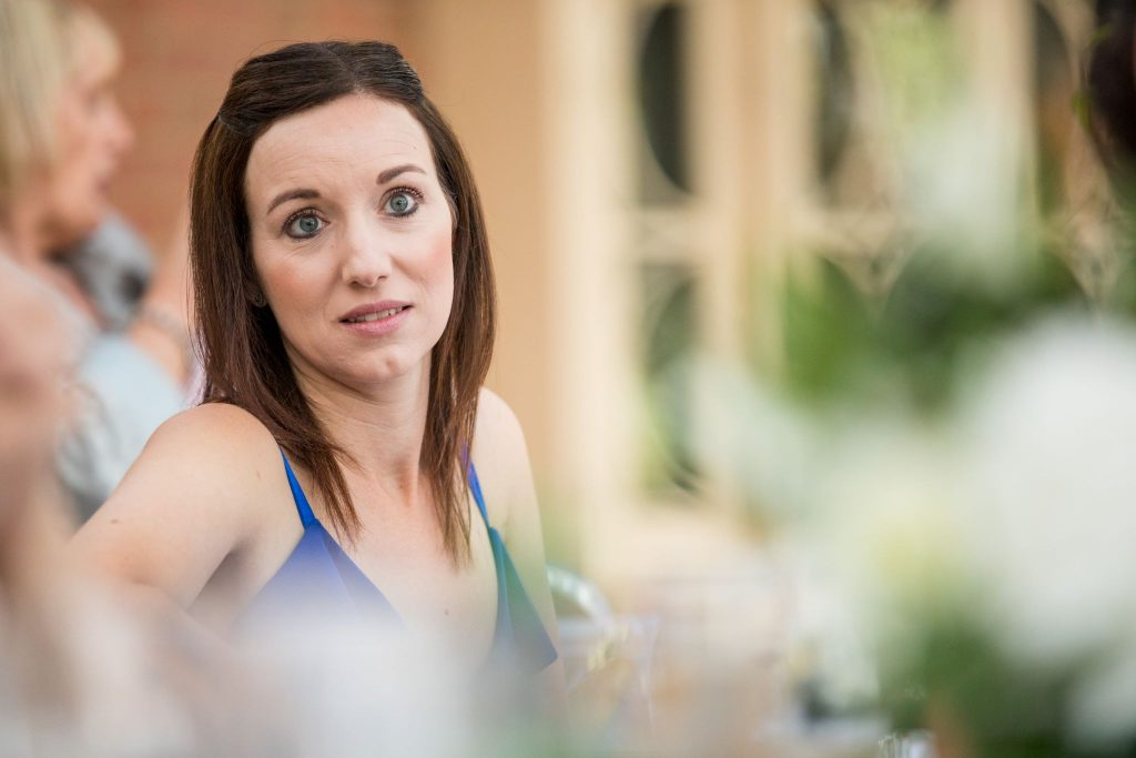 guest hears top table speech kilworth house hotel reception north kilworth leicestershire oxfordshire wedding photographer