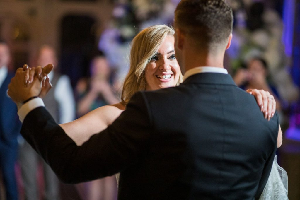 smiling bride first dance kilworth house hotel north kilworth leicestershire oxfordshire wedding photographers