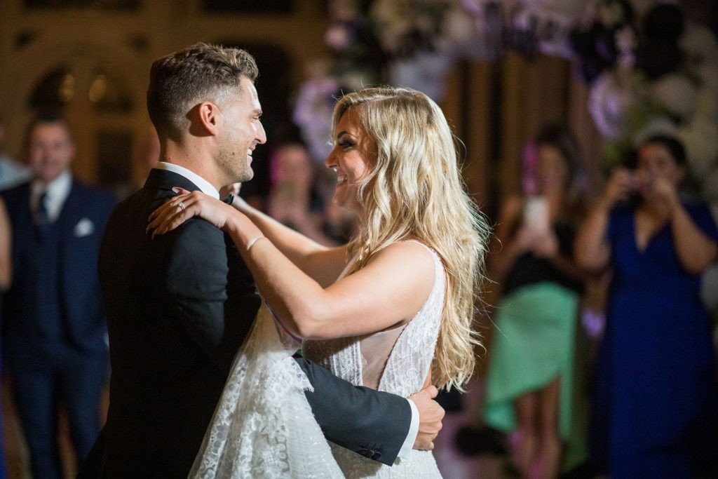 smiling bride groom first dance kilworth house hotel orangery north kilworth leicestershire oxfordshire wedding photography