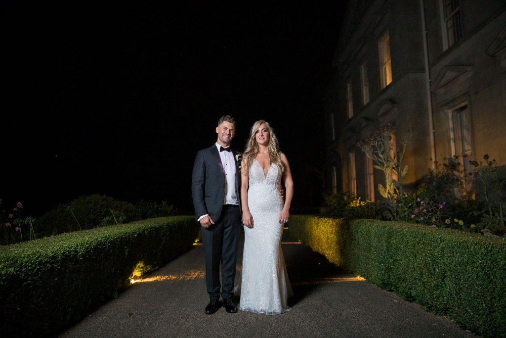 bride groom night stroll kilworth house hotel gardens north kilworth leicestershire oxfordshire wedding photographer