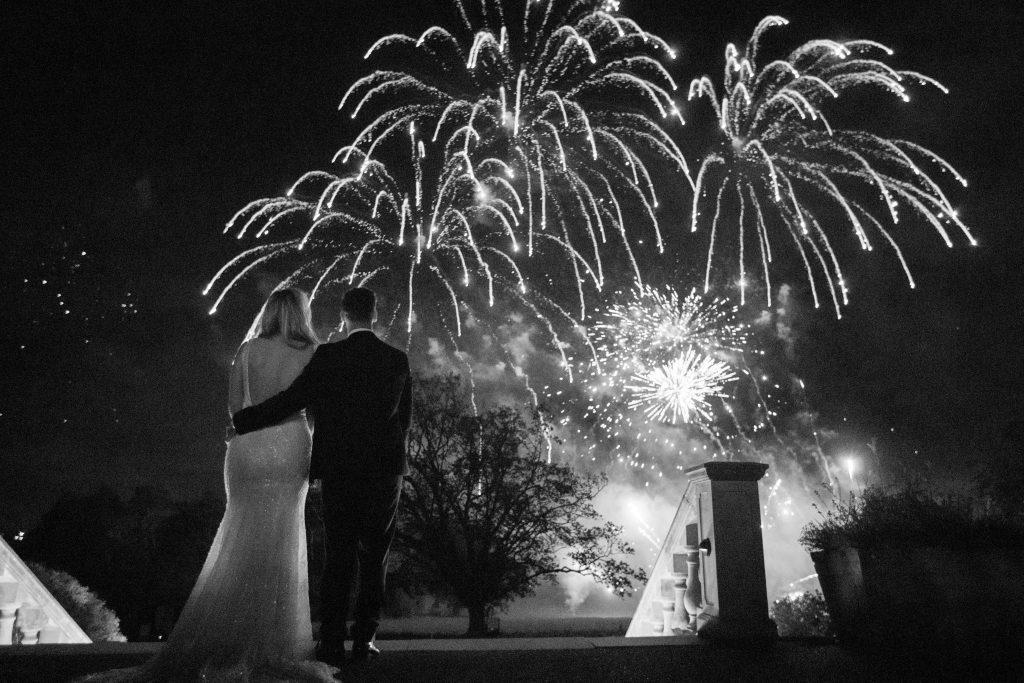 fireworks shower before bride groom kilworth house hotel north kilworth leicestershire oxford wedding photographer