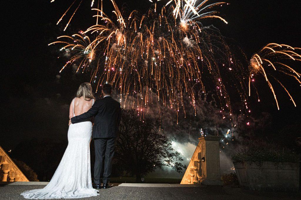 bride groom enjoy fireworks kilworth house hotel grounds north kilworth leicestershire oxford wedding photographers