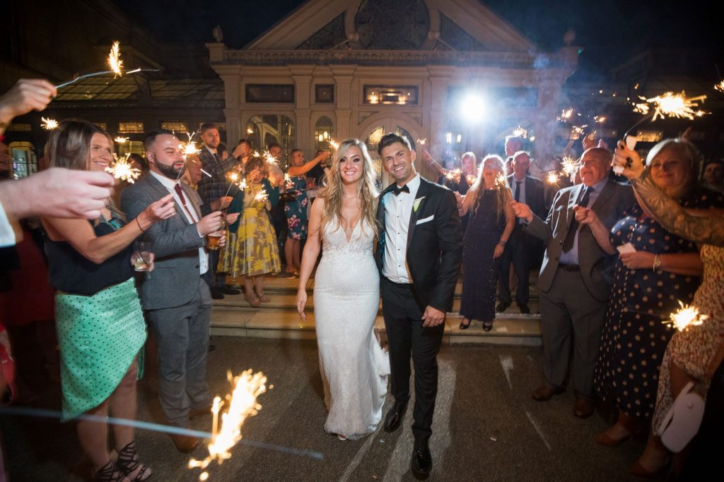 bride grooms sparklers departure kilworth house hotel north kilsworth leicestershire oxford wedding photography