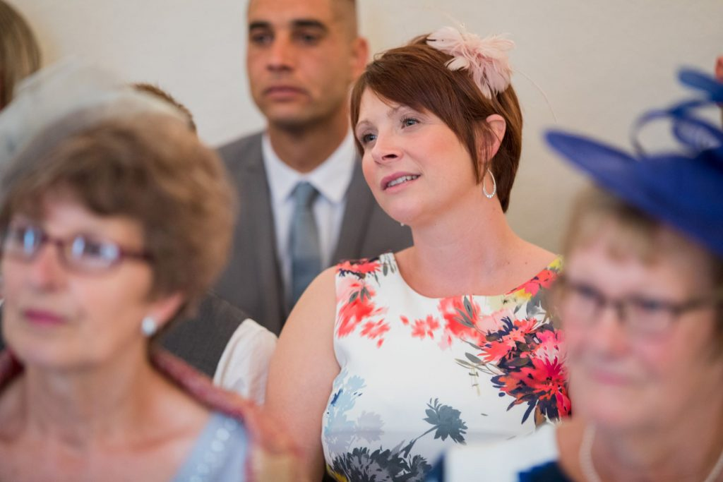 guests await marriage ceremony registry office roysse court abingdon oxford wedding photographer