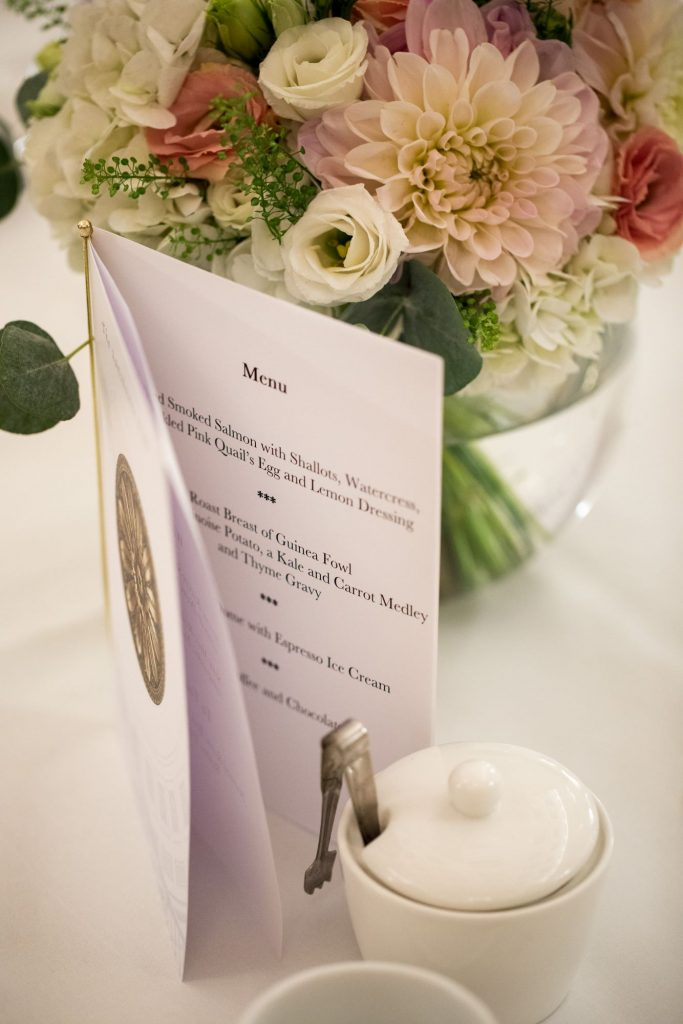 reception dinner menu lansdowne club mayfair london oxford wedding photography