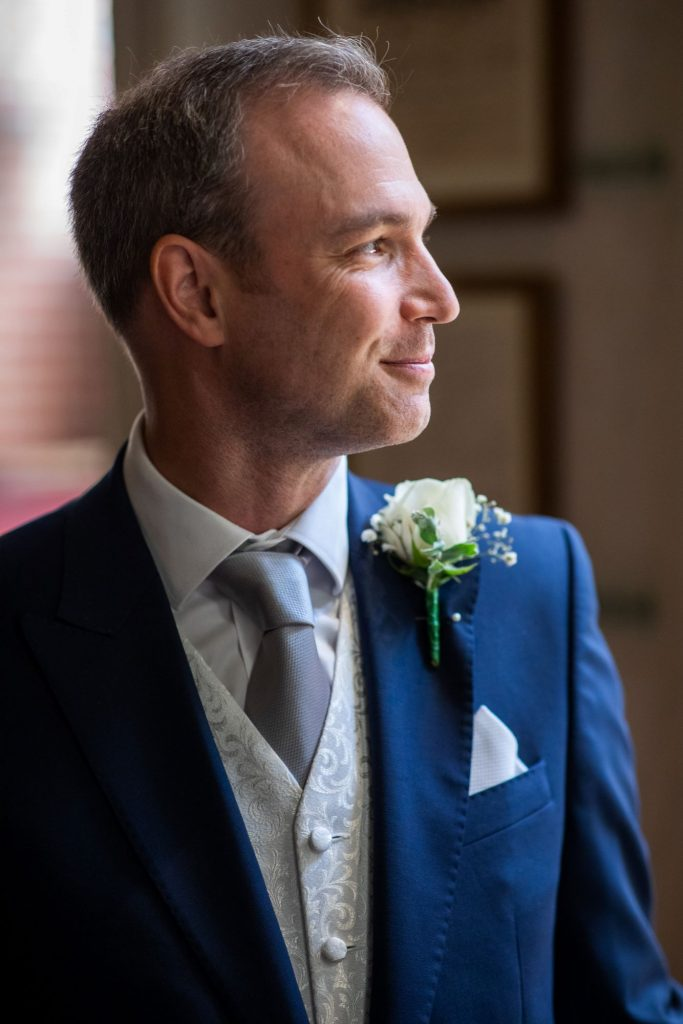 groom awaits bride lansdowne club marriage ceremony mayfair london oxfordshire wedding photographer
