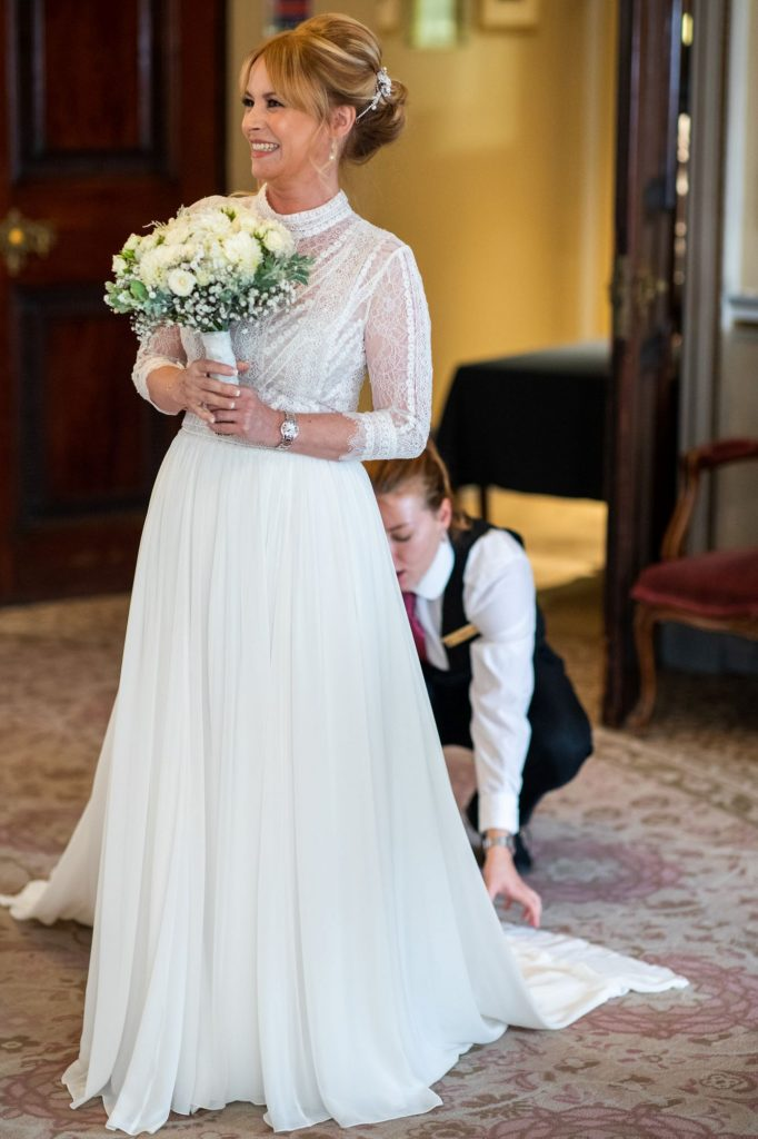 brides dresses train staighted lansdowne club mayfair london oxfordshire wedding photography