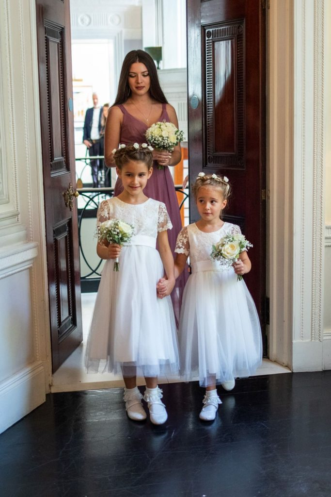 bridesmaid flowergirls lansdowne club marriage ceremony mayfair london oxford wedding photography