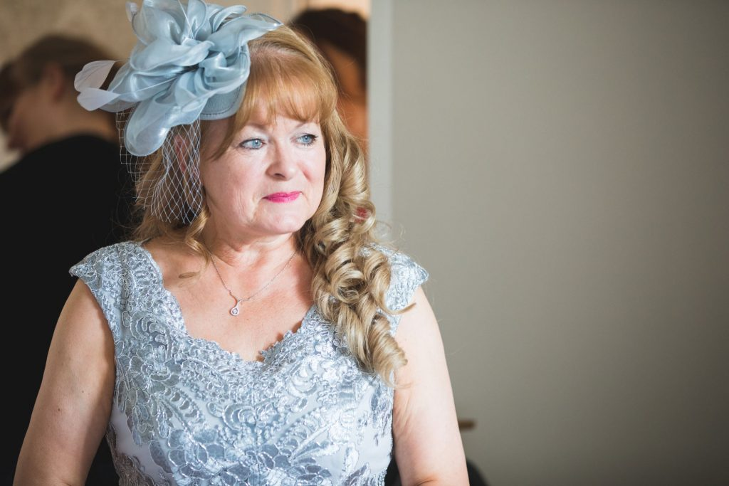 mother of bride blue hat dress the wroxeter hotel shrewsbury shropshire oxfordshire wedding photography