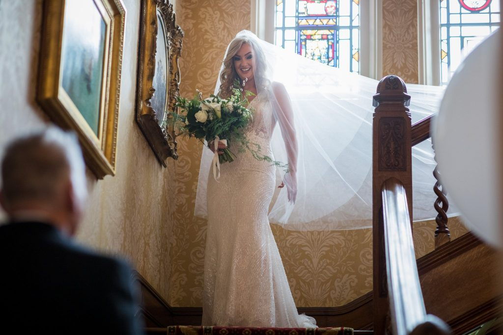 brides fathers first look kilworth house hotel north kilworth leicestershire oxfordshire wedding photography