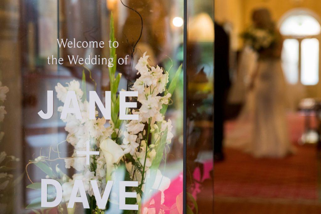bride groom names signage kilworth house hotel north kilworth leicestershire oxford wedding photographer