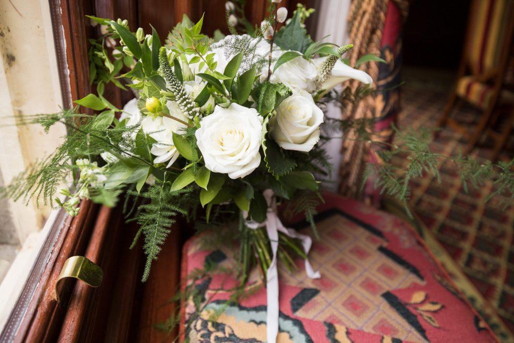 white roses brides bouqet kilworth house hotel north kilworth leicestershire oxfordshire wedding photographer