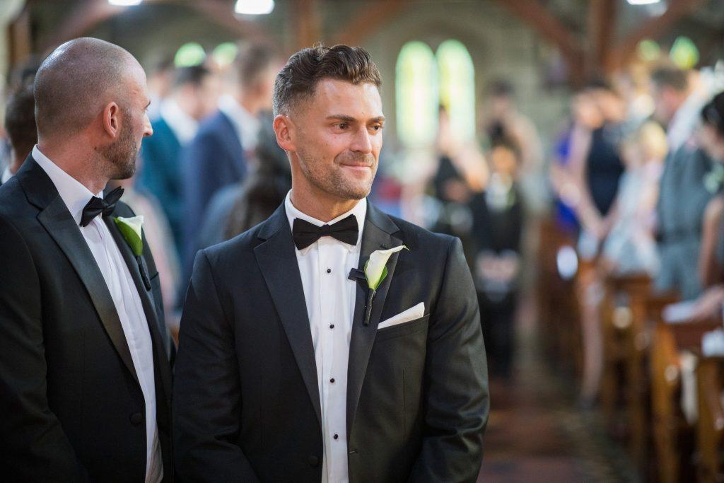 groom bestman at alter st marys catholic church husbands bosworth leicestershire oxfordshire wedding photographer