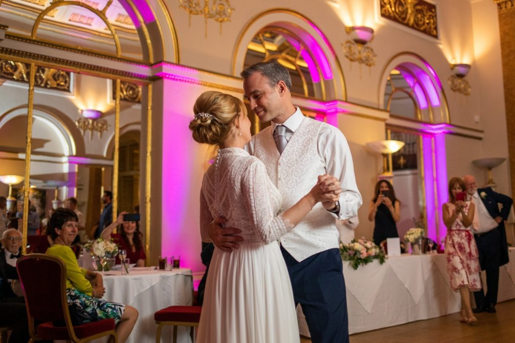 bride groom first dance lansdowne club mayfair london oxfordshire wedding photographers
