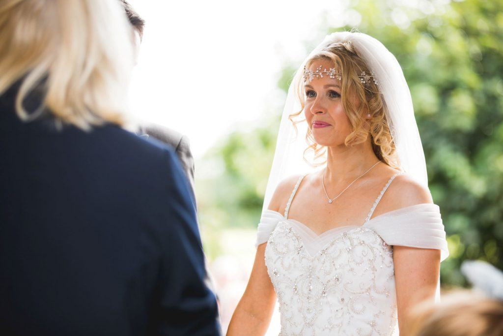 bride hears celebrant woodland ceremony wroxeter hotel shrewsbury shropshire oxford wedding photographers