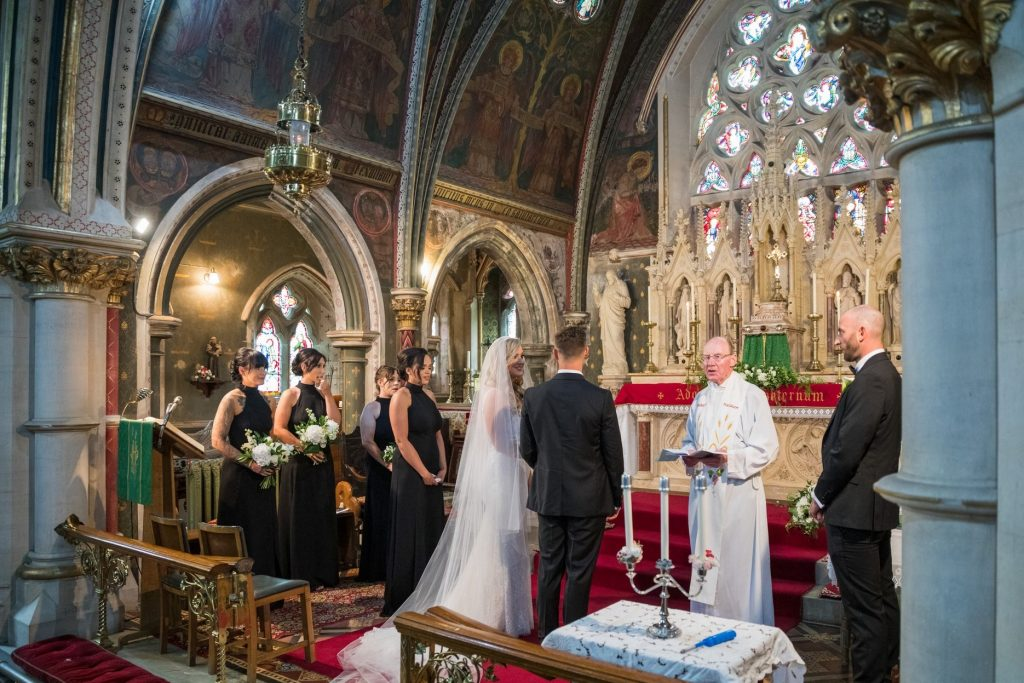 marriage service begins st marys catholic church husbands bosworth leicestershire oxford wedding photography