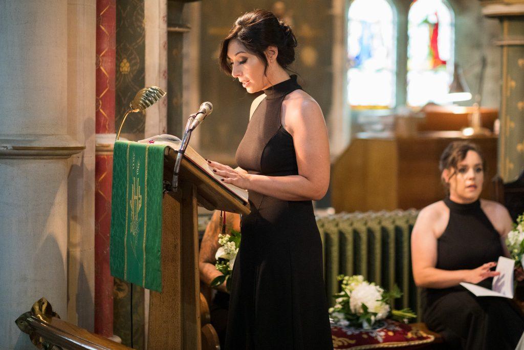 bridesmaids reading st marys catholic church husbands bosworth leicestershire oxfordshire wedding photography