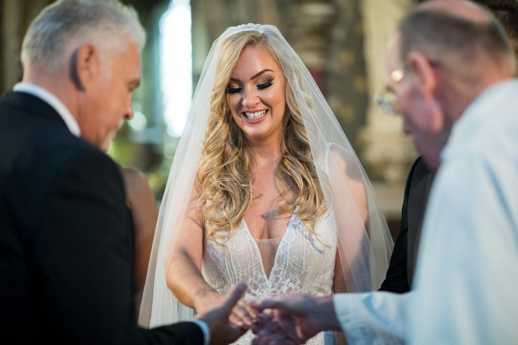 bride father of bride priest st marys catholic church husbands bosworth leicestershire oxford wedding photographer