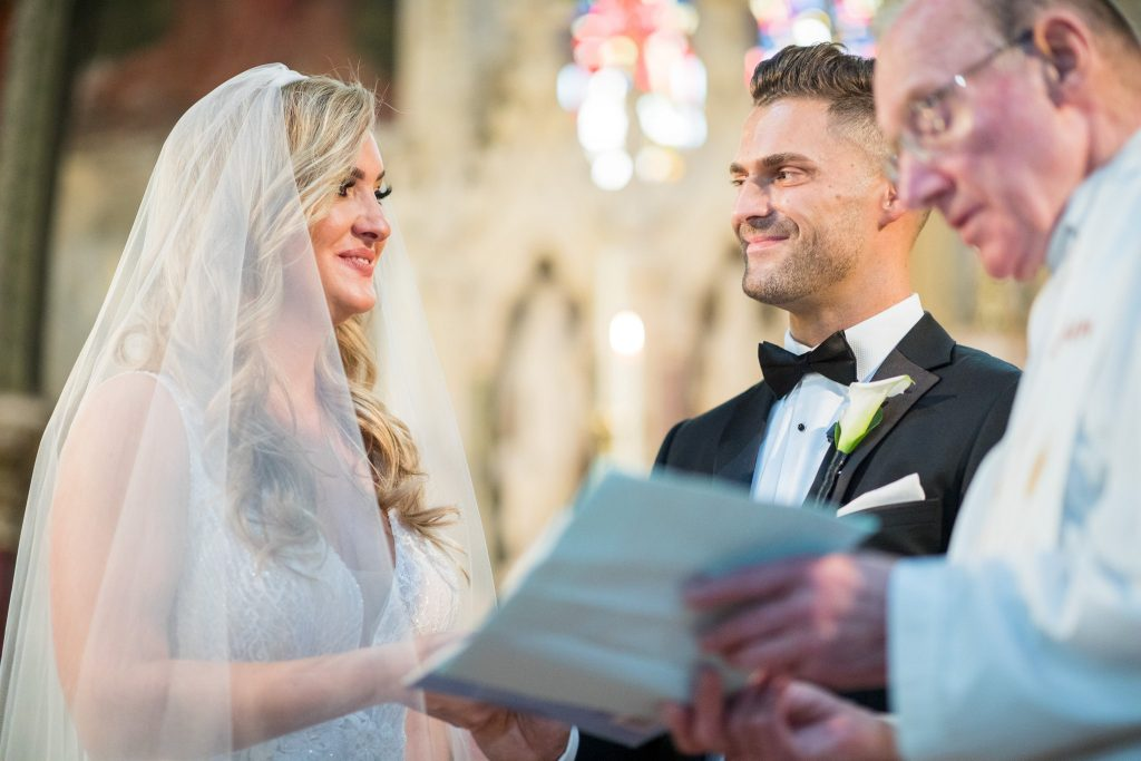priest reads service st marys catholic church marriage ceremony husbands bosworth leicestershire oxfordshire wedding photographer