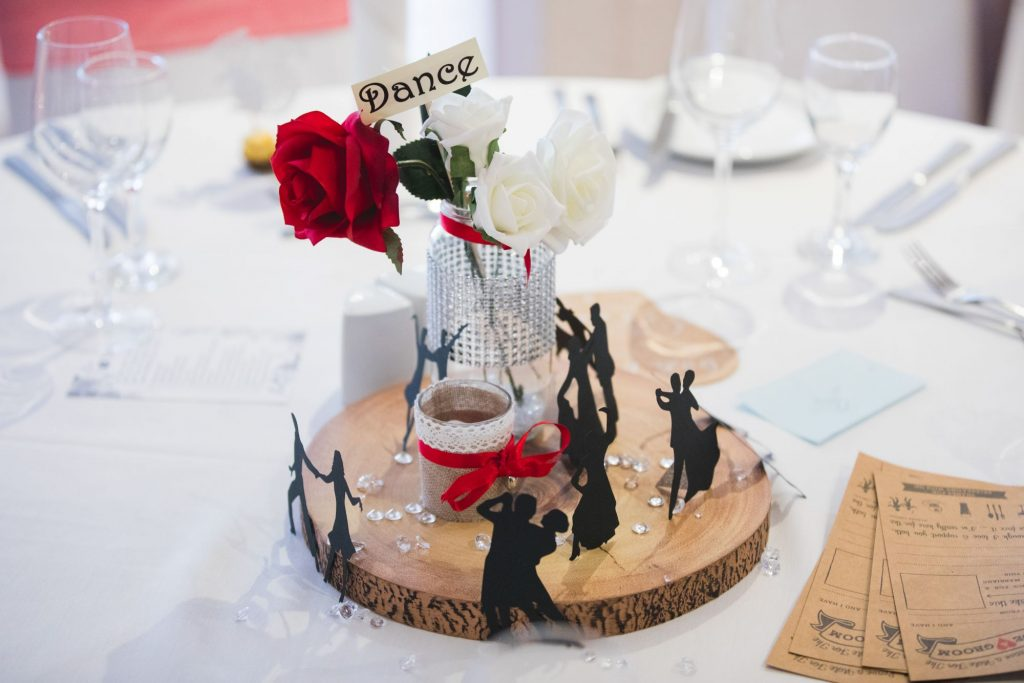 themed table decoration wroxeter hotel dinner reception shrewsbury shropshire oxford wedding photography