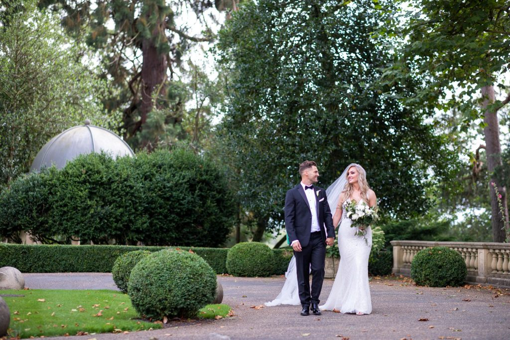 bride grooms stroll kilworth house hotel grounds north kilworth leicestershire oxford wedding photography