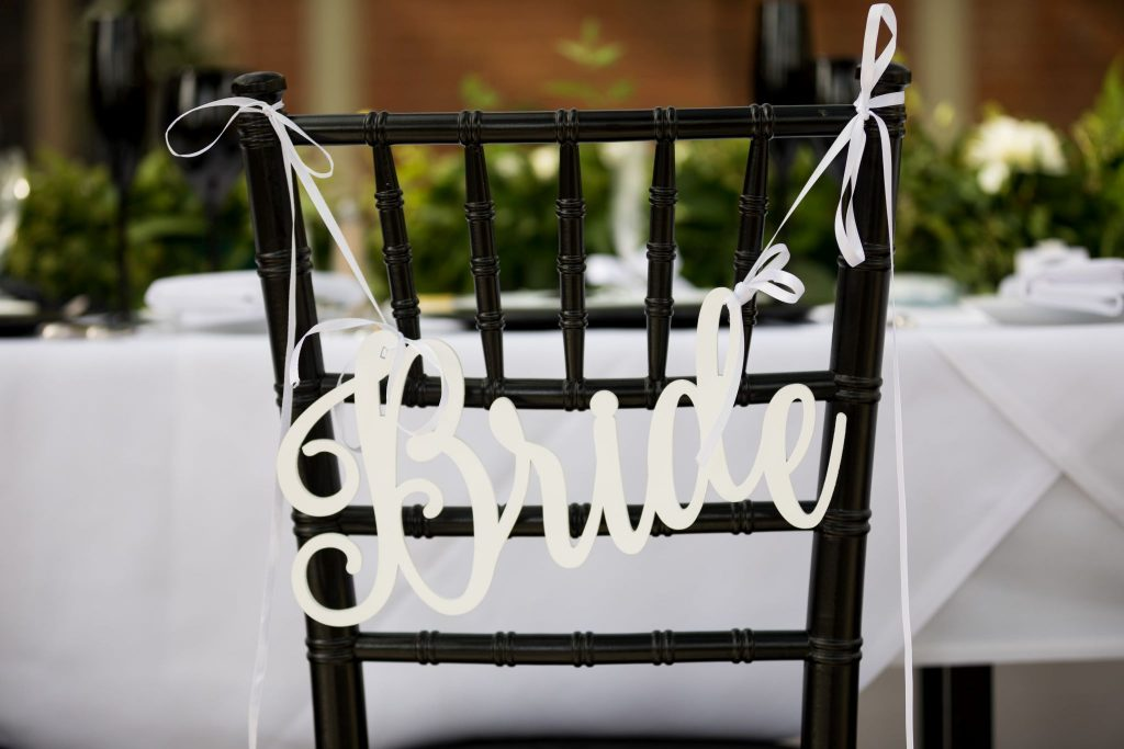 bride chair sign kilworth house hotel reception dinner north kilworth leicestershire oxford wedding photographer