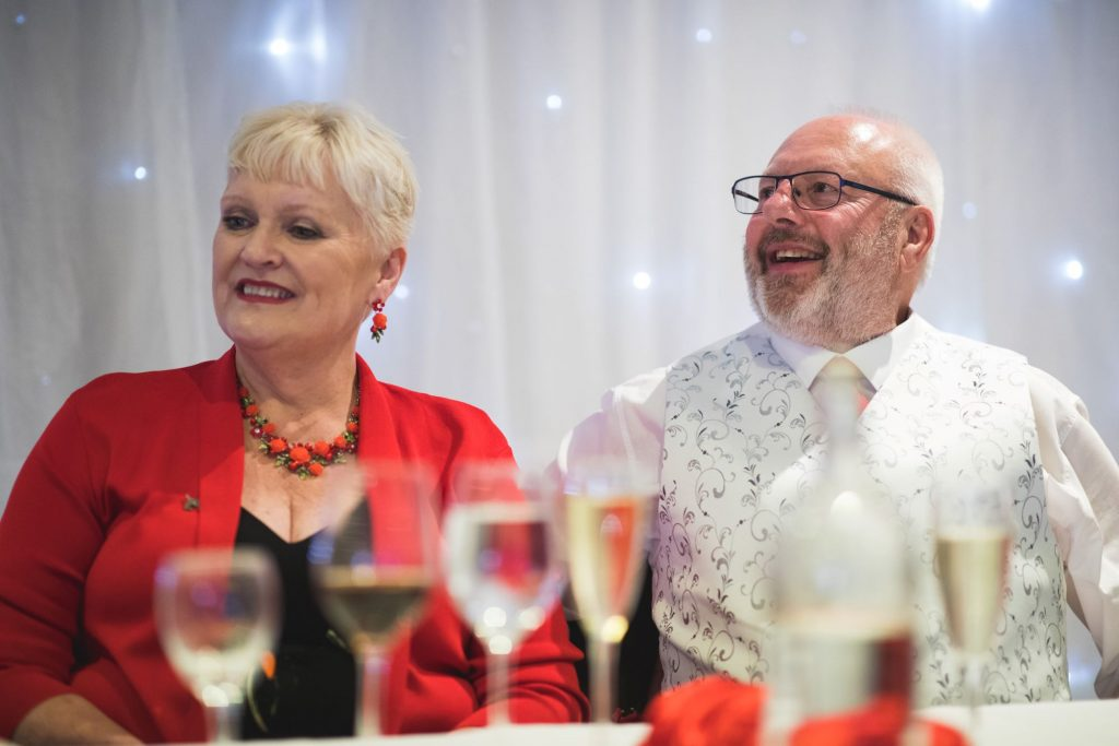 father mother of groom top table wroxeter hotel dinner reception shrewsbury shropshire oxford wedding photography