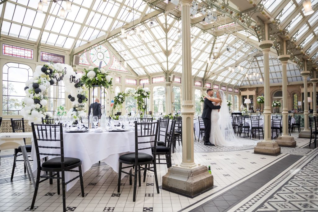 bride groom embrace in reception orangery kilworth house hotel north kilworth leicestershire oxford wedding photography