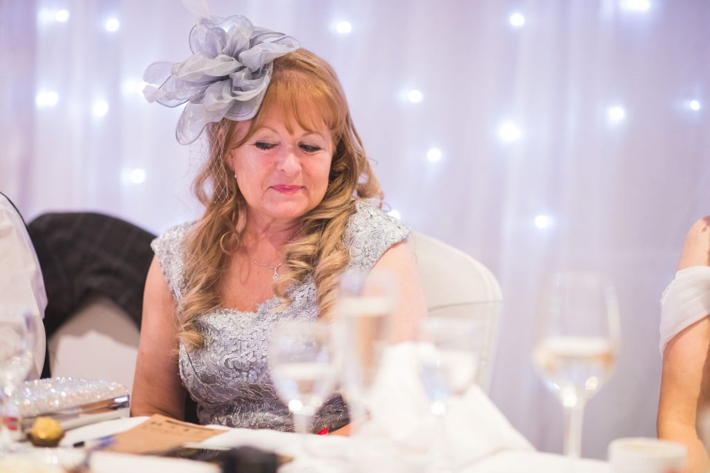 mother of bride top table wroxeter hotel reception shrewsbury shropshire oxfordshire wedding photography