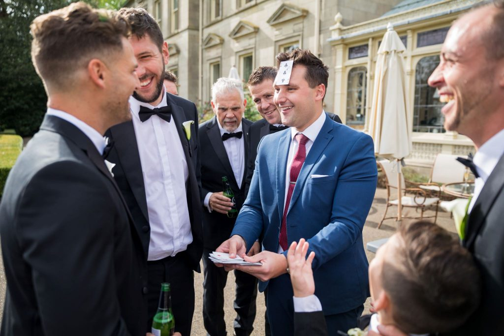 magician entertains guests kilworth house hotel reception north kilworth leicestershire oxfordshire wedding photographers