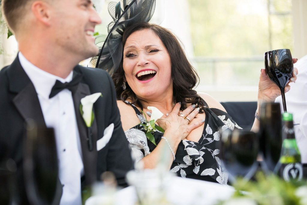 laughing groom mother of groom kilworth house hotel orangery reception north kilworth leicestershire oxford wedding photography